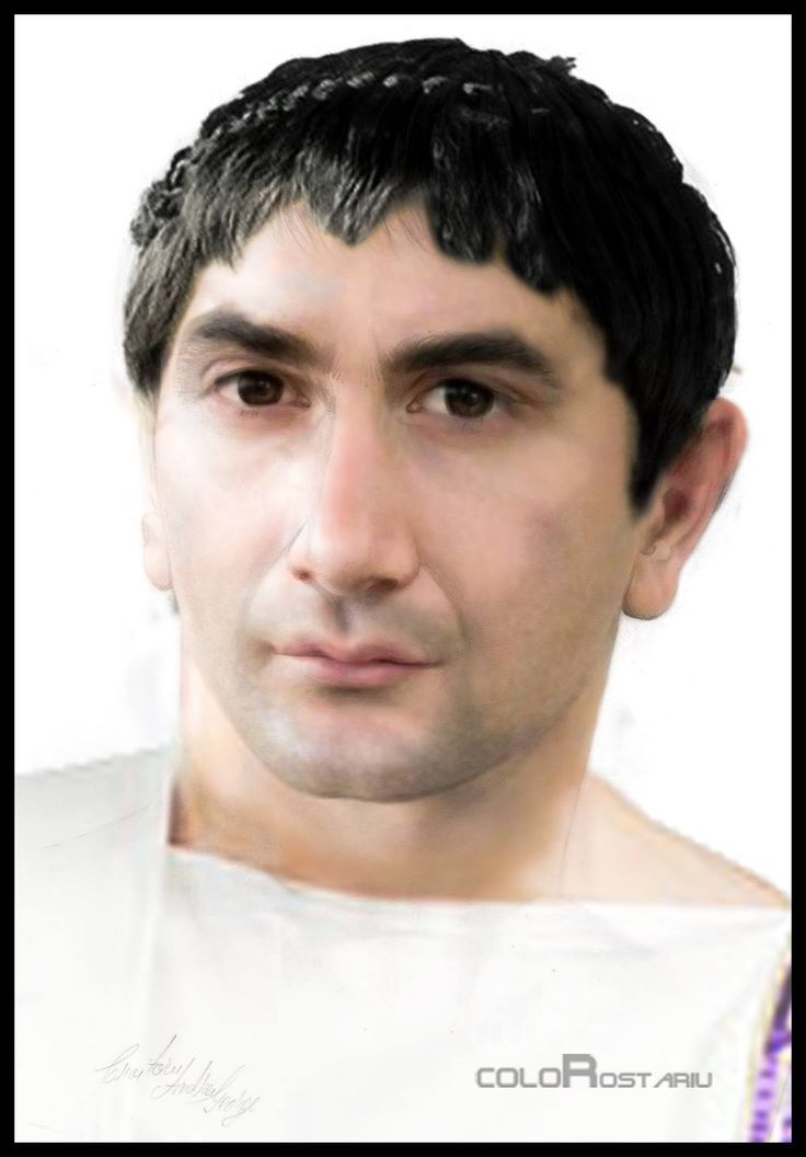 (53-117 CE) Trajan, Roman Emperor (facial reconstruction probably based on a marble bust).