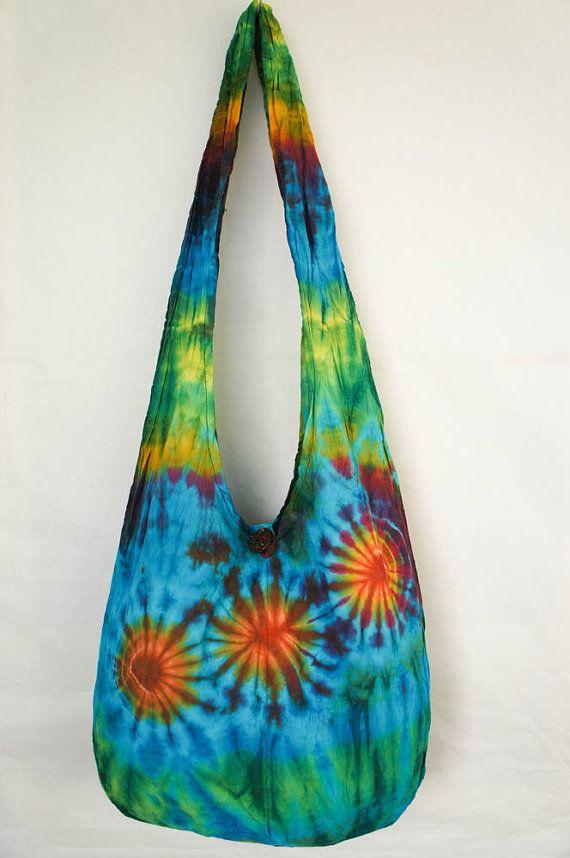 YAAMSTORE Mexican daisies handmade Tie die sling bag by yaamstore, $11.99