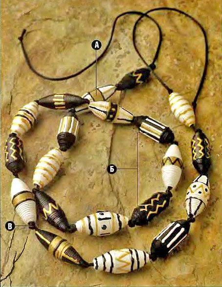 reciclaje de papel: perlas africanas de papel ...! - Artesanías - Ideas de manualidades para niños
