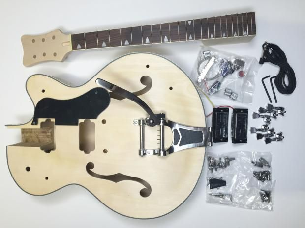 DIY Electric Guitar Kit - Hollow Body Build Your Own Guitar Kit | Reverb
