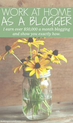 Do you want to work from home as a blogger? Check out these tips! Michelle makes over $50,000 a month from the comfort of her home and loves what she does! So awesome!