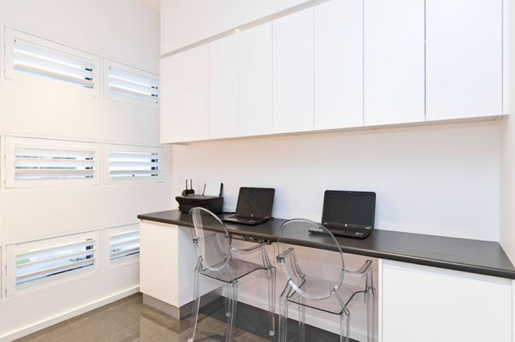 Built in desk with overhead cupboards, what I am after just in a style that would suit a Californian bungalow home