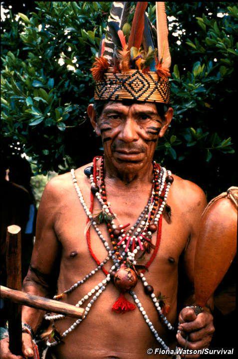Hablar las personas de tribal. Guarani. Paraguay, South America.