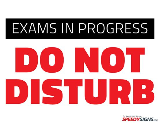 free exams in progress do not disturb printable sign template free
