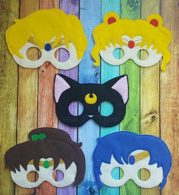 Sailor Moon Inspired Felt Masks  Birthday by TreasuredForever