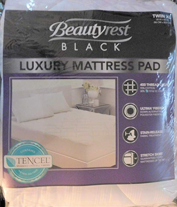 Beautyrest Black Luxury Mattress Pad White Twin Xl 400 Thread Count Review Luxury Mattresses Mattress Pad Black Luxury