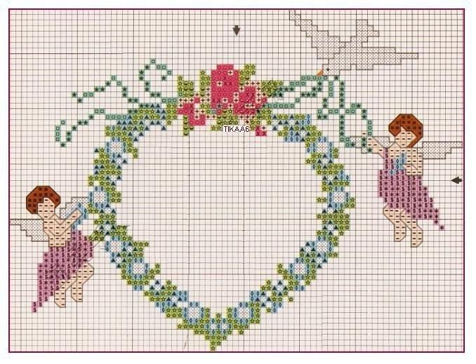 angel heart cross stitch