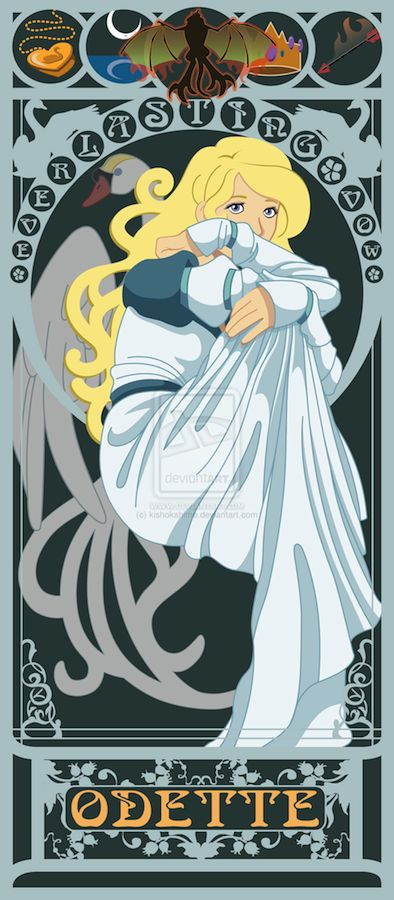 ART NOUVEAU PRINTS FOR ALL THE NON-DISNEY PRINCESSES: Odette from Swan Lake
