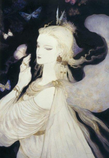 Yoshitaka Amano #artdeco #Japan #illustration