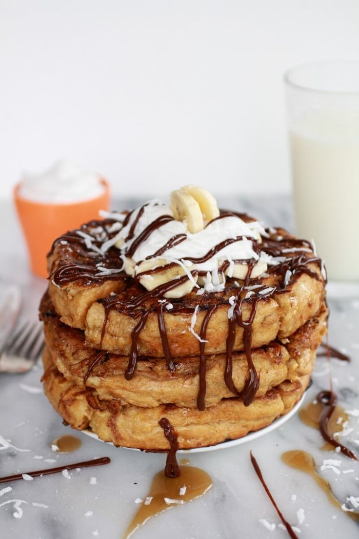 caramelized coconut banana bread waffle french toast | http://www.halfbakedharvest.com/