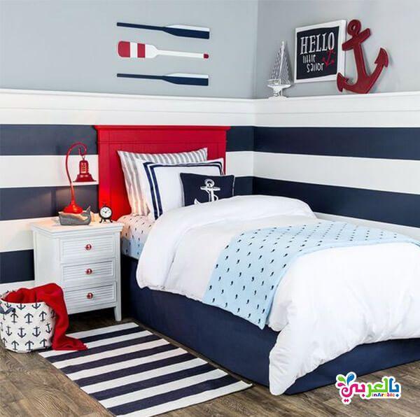 الوان غرف نوم اطفال جديدة دهانات غرف اطفال حديثة بالعربي نتعلم Kids Nautical Room Bedroom Design Toddler Boys Room