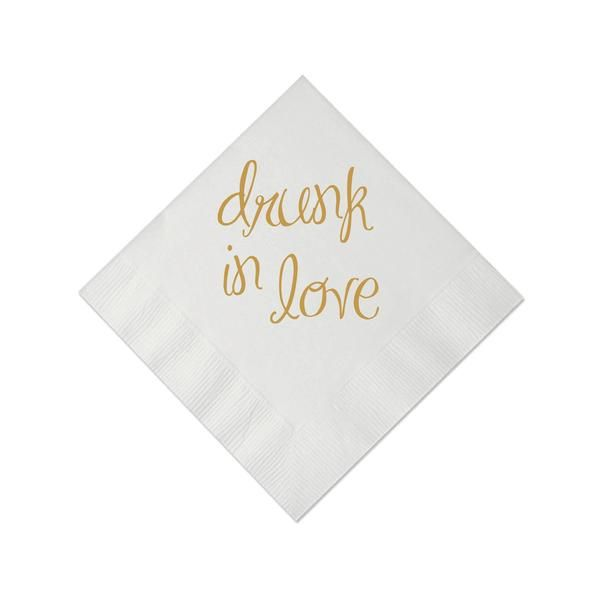 Drunk in Love Personalized Wedding Napkins