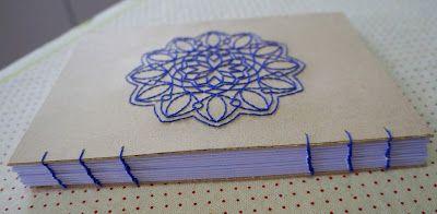 Encadernação artesanal, encadernação manual, booking biding, embroidery, bordado, mandala, https://www.facebook.com/noarteloja/