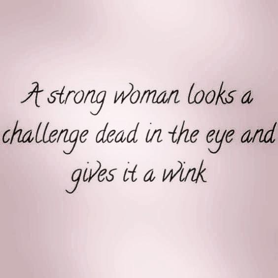 Mean #Business - Look a challenge right in the eye and wink!