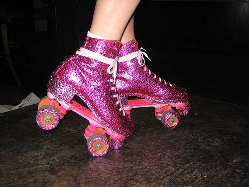 awesome rollerskates! / Glitter Roller  Skates. Holla!