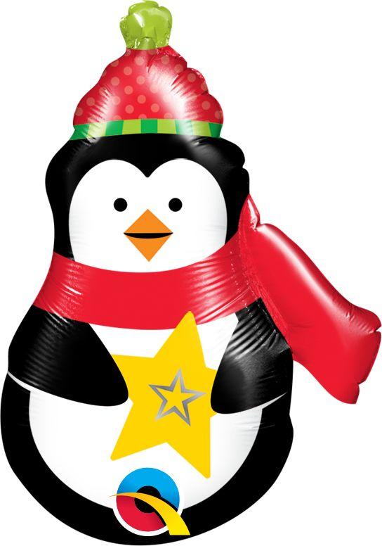 Balão Pinguim Natal Precious Penguin 43459 para centro de mesa - Estilo e festas