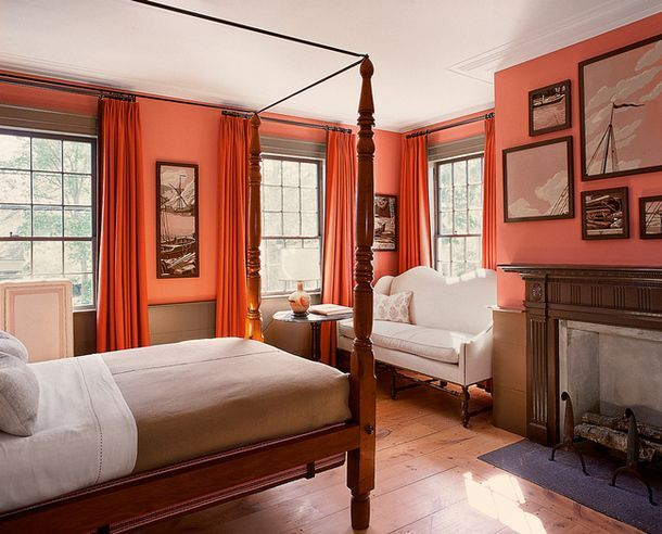 Beautiful Red Paint In Bedroom