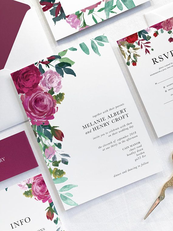 These Red Rose Wedding Invitations Are Perfect For Any Modern Wedding The Red Rose Wedding Invitations Rose Wedding Invitations Minimalist Wedding Invitations