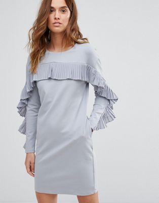 Warehouse Frill Sweat Dress