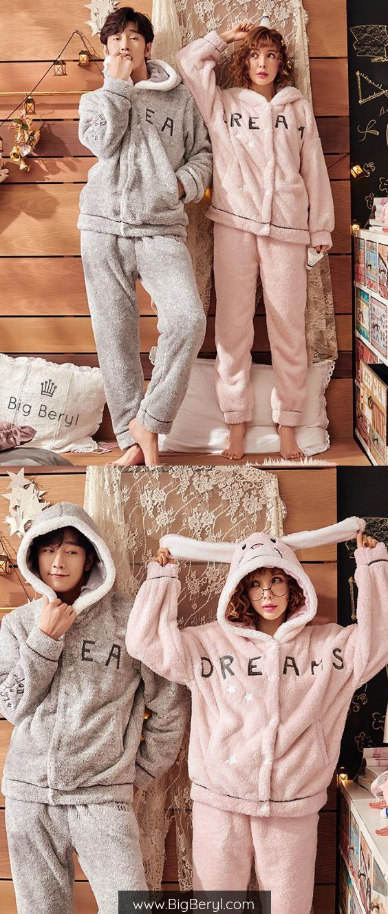 d4d736d4f8 Ultimate and Unique Couple Goals - Matching couple pjs this winter! Get  this before christmas!! Isn't it too cute and soft?? #couples  #matchingoutfits #pjs ...