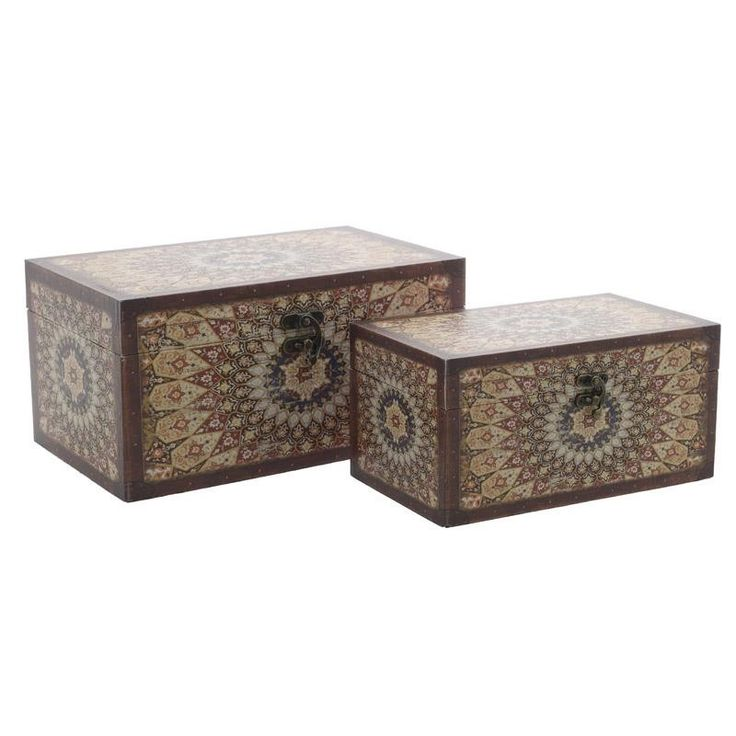 Wooden Trunk Set Of 2 Pieces - Chests - FURNITURE - inart