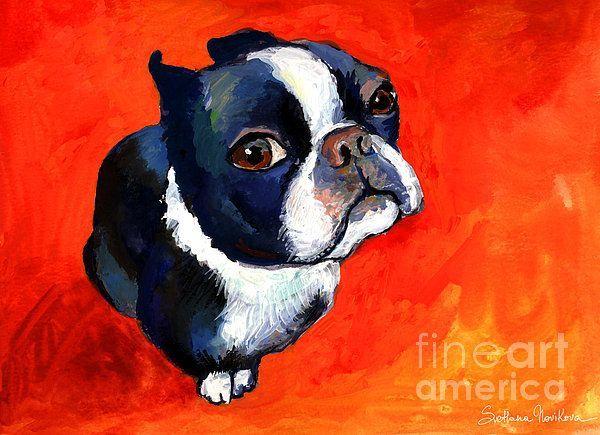 Dog portrait painting by Svetlana Novikova,