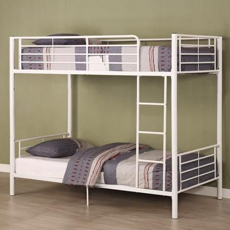 Premium Black Metal Twin-Over-Twin Bunk Bed, Multiple Colors - Walmart.com
