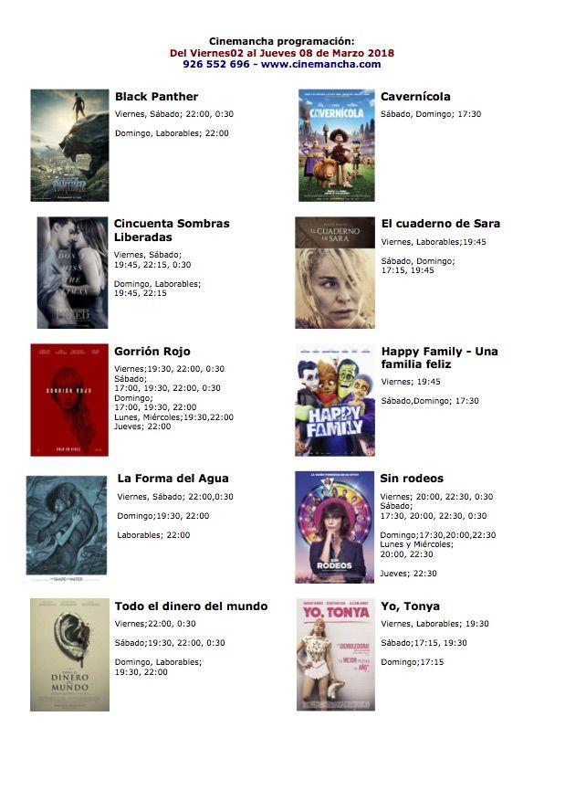 Cartelera de los multicines Cinemancha del 02 al 08 de marzo - https://herencia.net/2018-03-02-cartelera-los-multicines-cinemancha-del-02-al-08-marzo/?utm_source=PN&utm_medium=herencianet+pinterest&utm_campaign=SNAP%2BCartelera+de+los+multicines+Cinemancha+del+02+al+08+de+marzo