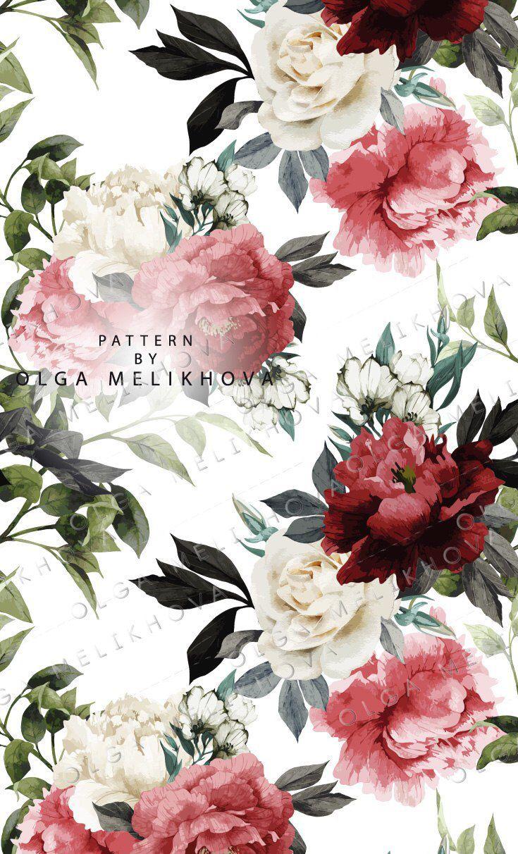 Vector Floral Patterns Jpeg In 2020 Floral Pattern Floral Illustrations Illustration