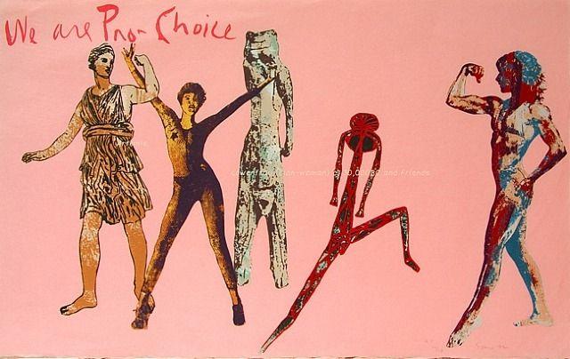 Nancy Spero, We are Pro-Choice 1992