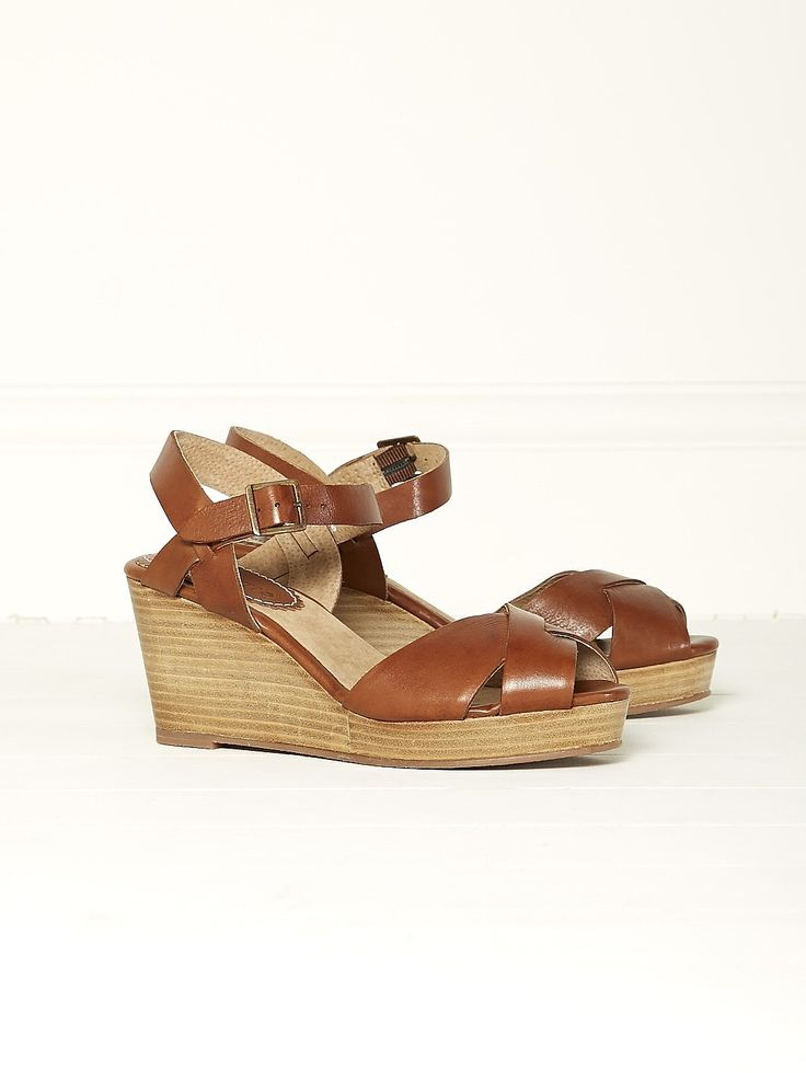 Womens dark tan luella mid wedge from White Stuff - £55 at ClothingByColour.com