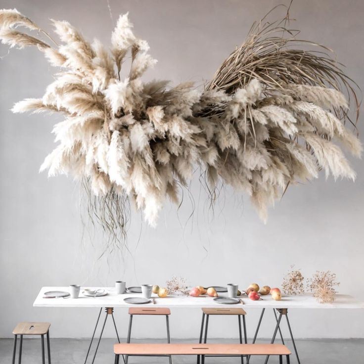 Pampas Grass Houseplant Trend Decorate With Dried Plants