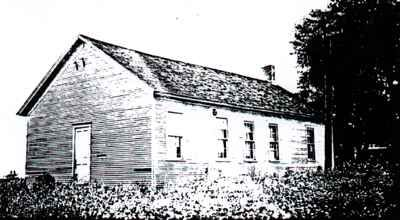 Old Forsyth School House — 1927 — built in 1864  Located on Southeast corner of Smith St. and Oreana Rd. (E. Shaffer St.)  Used for Township shed after new school was built