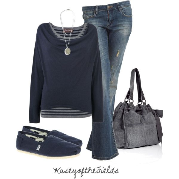 """""""Blue and Grey"""" by kaseyofthefields on Polyvore"""