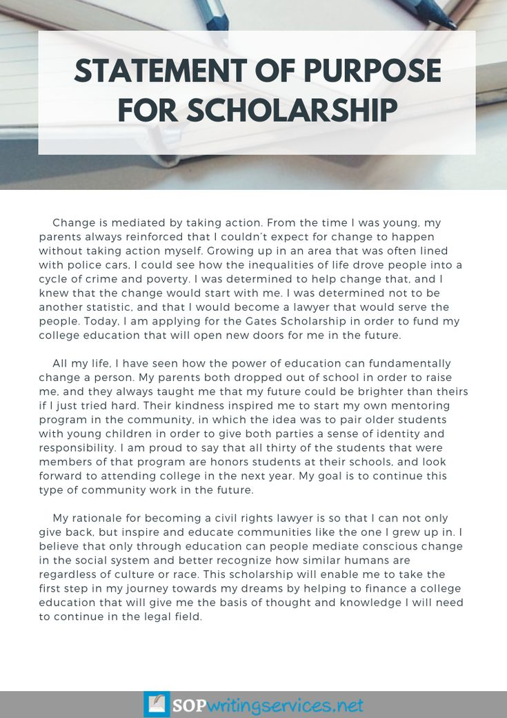 Pin on Statement of Purpose for Scholarship Sample