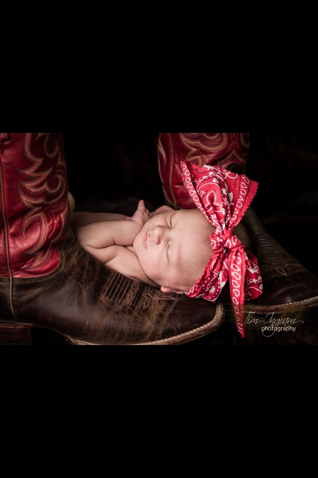 Newborn and cowboy boots!