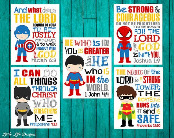 Superhero Wall Art. Seek Justice Micah 6 8. 1 by LittleLifeDesigns
