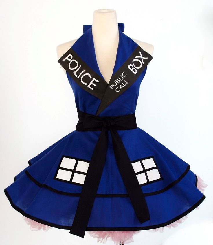 Doctor Who Tardis Apron by OliviasStudio $160