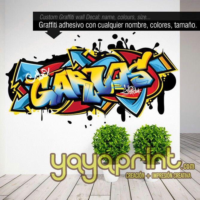 226 best graffiti nombre decoraci n habitaci n dormitorio - Habitaciones con graffitis ...
