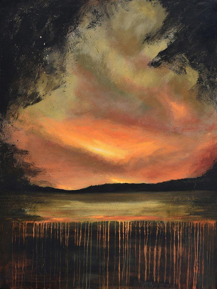 Sunset Spill - Acrylic on canvas - by New Zealand artist Julian Hindson - 900mm x 1200mm - www.hindson.co.nz