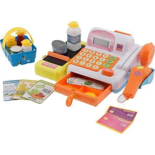Caixa Registradora Eletrônica - Brink+ - A Caixa Registradora Eletrônica da Brink+ ensina através da brincadeira e dos sons. Fabricado com material de qualidade, o brinquedo é super colorido, além disso, auxilia no desenvolvimento dos pequeninos. CLIQUE NA FOTO E CONFIRA!