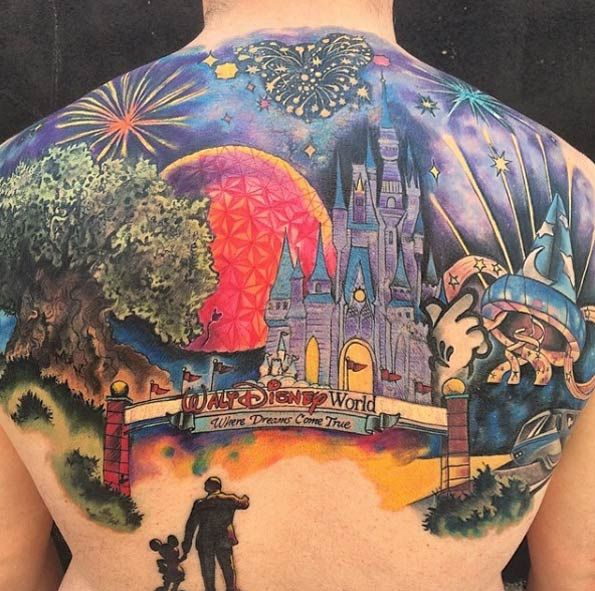 17 best images about tattoos on pinterest beauty and the for Back mural tattoo designs
