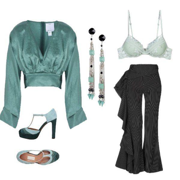 factory authentic 0a44c 5835f Camicetta verde e pantaloni particolari | Abbigliamento ...