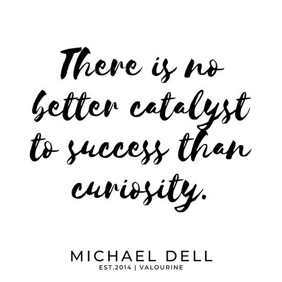 There is no better catalyst to success than curiosity