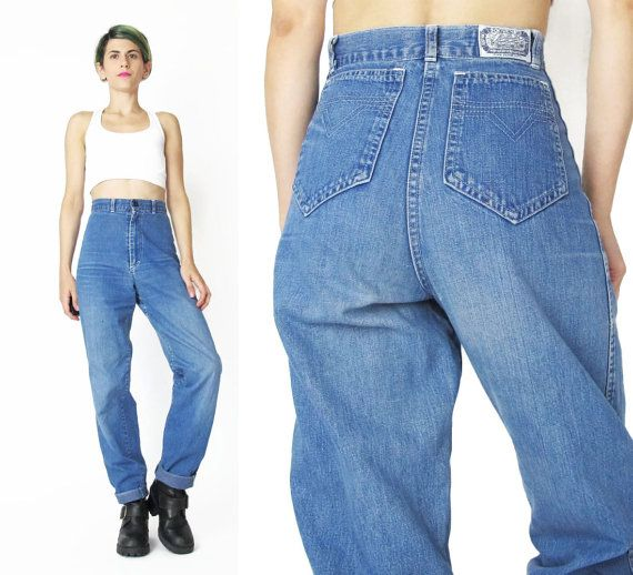 80s High Waist Jeans Vintage High Waisted Jeans by honeymoonmuse