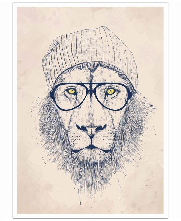 Cool lion VON Balázs Solti now on JUNIQE!