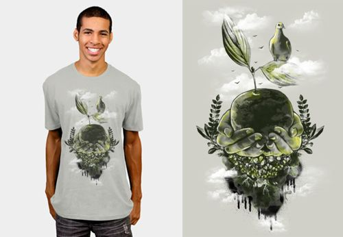 Artistic Planet Earth Designs on T-shirts