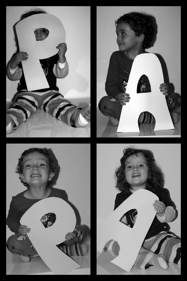 Una original idea para regalar a papá una foto de sus niños.