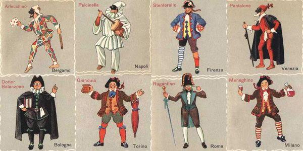 le maschere di carnevale italiane - Cerca con Google