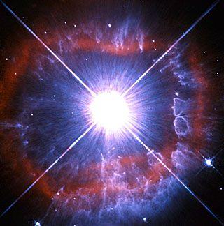 Snapshot of a shedding star. Image credit: ESA/Hubble (http://spacetelescope.org) & NASA (http://www.nasa.gov)